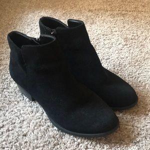 Jessica Simpson black suede booties